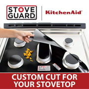 Kitchen Aid Stove Protectors - Stove Top Protector for Kitchen Aid KGCD807XBL00 Gas Ranges - Ultra Thin, Easy Clean Stove Liner