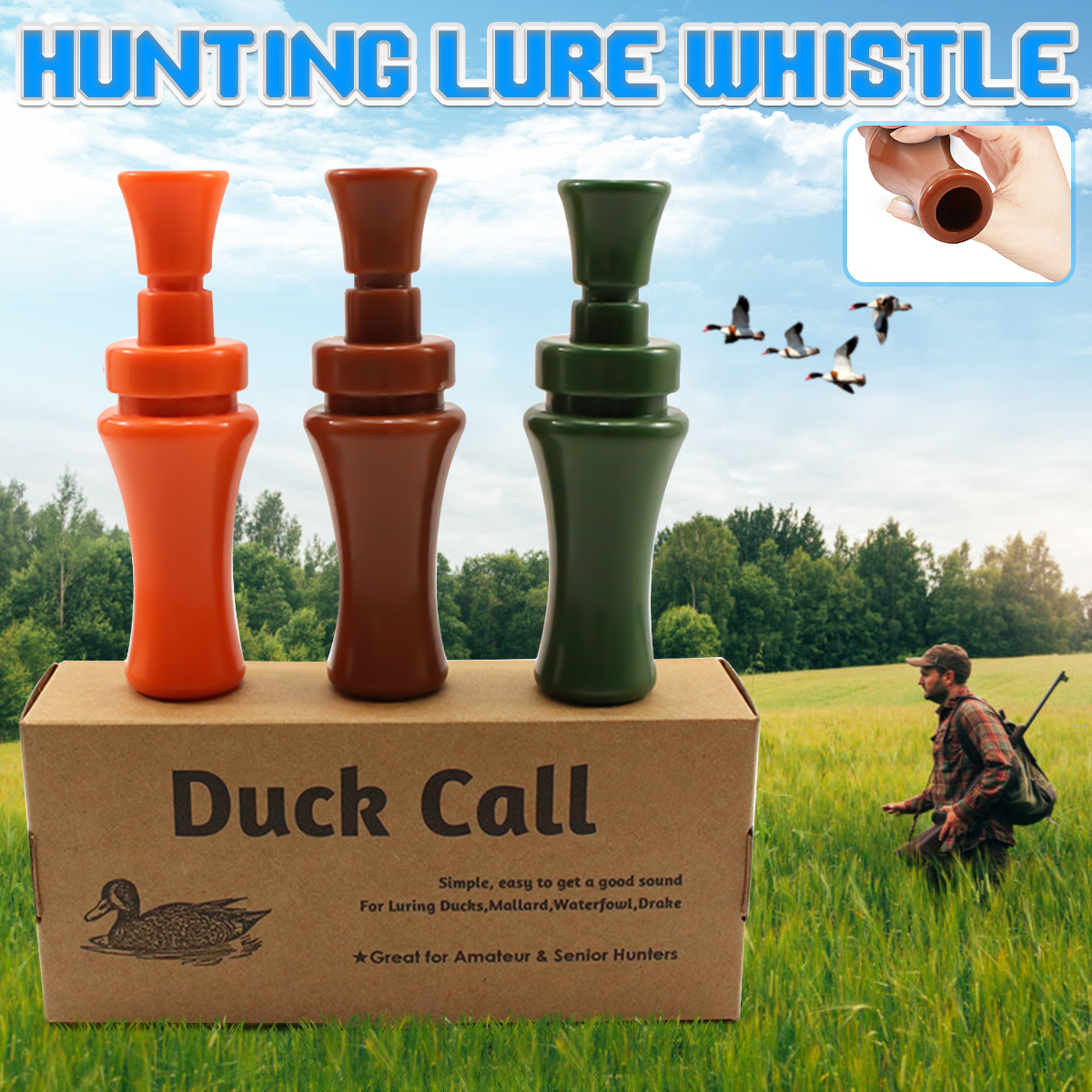 Duck Hunt Call Whistle For Mallard Drake Calls Whistle For Outdoor Hunt Shooting