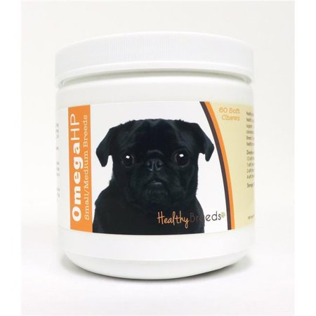 Healthy Breeds Pug Omega HP Fatty Acid Skin and Coat Support Soft
