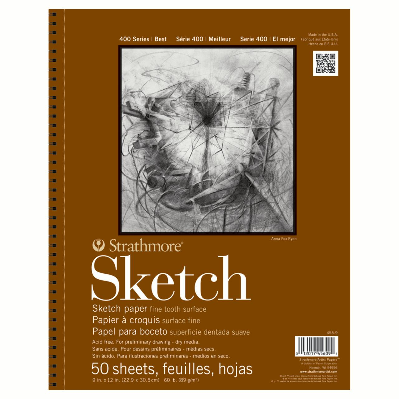 "Strathmore 9"" x 12"" Wire Bound Sketch Pad"