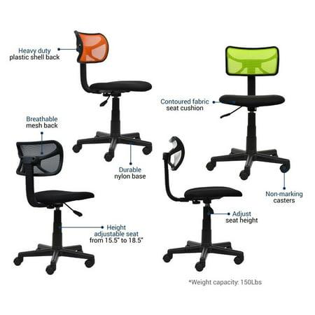Scranton & Co Mesh Task Office Chair in White - image 7 of 9