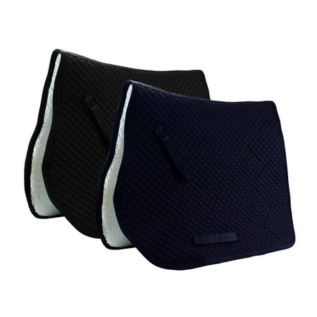 Dressage Saddle Pad with Fleece Lining Derby Originals - White Double Fleece Saddle Pads