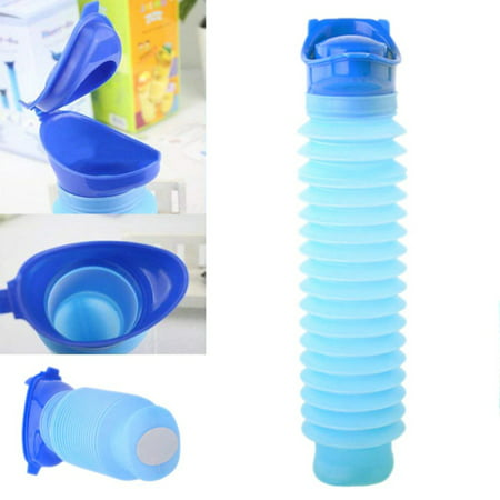 Jamming Device - Emergency Toilet Urinal Outdoor Urine Bottle Funnel,Shrinkable Mobile Toilet Potty Pee for Men, Women and Kids Urination Device in Travel, Camping, Hiking, Traffic jam and Outdoor Activities