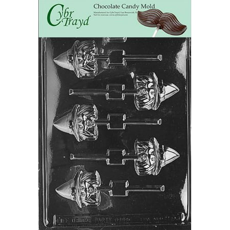 Cybrtrayd Life of the Party H068 Halloween Witch Head Lolly Chocolate Candy Mold in Sealed Protective Poly Bag Imprinted with Copyrighted Cybrtrayd Molding Instructions](Halloween Party Foods Easy)