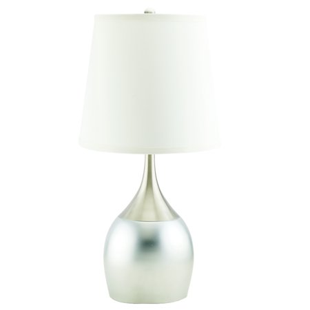 """Home Source Olivia Silver 23.5"""" Metal Table Lamp"""