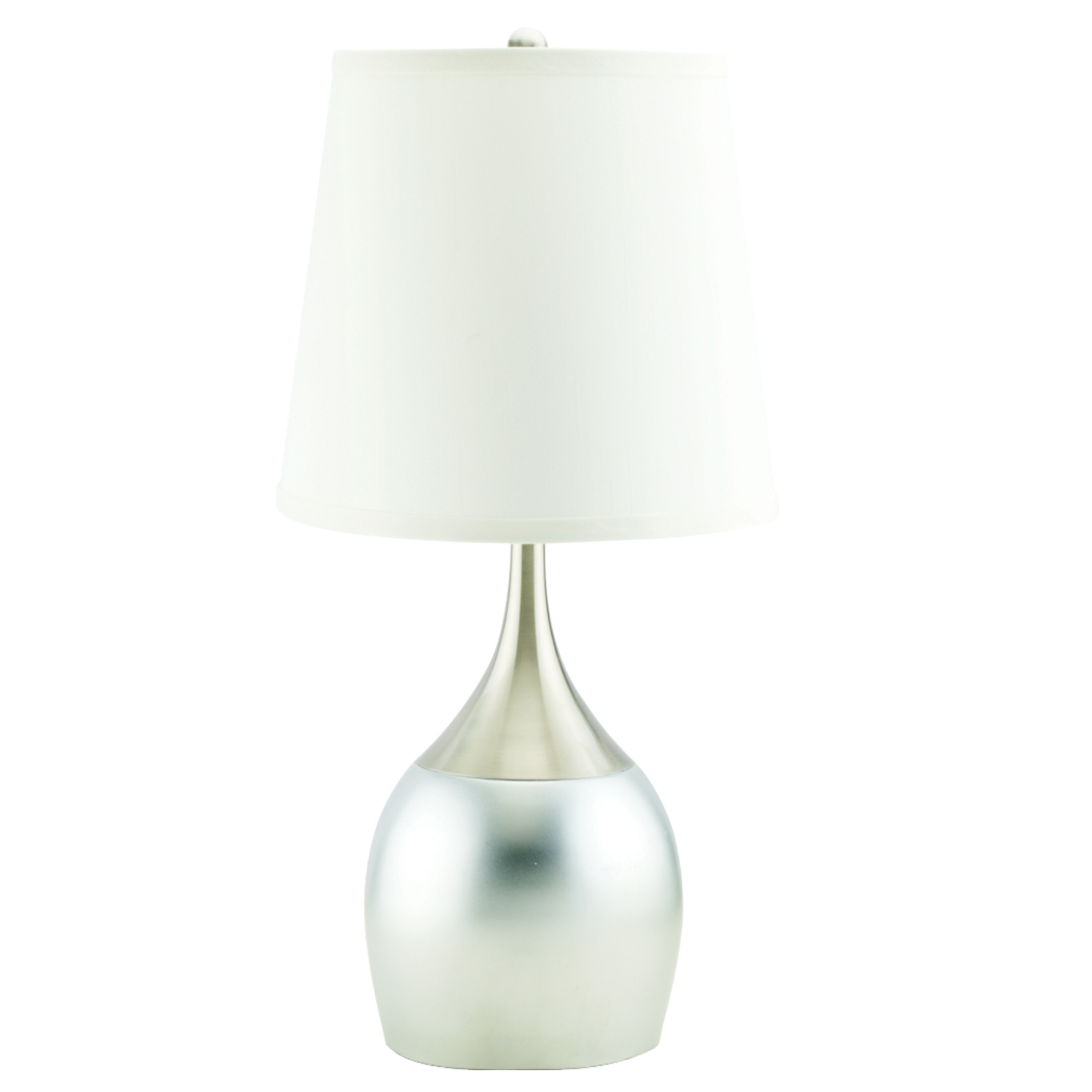 Home Source Metal Table Touch Lamp   Silver
