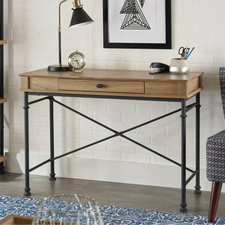 Better Homes and Gardens River Crest Console Desk, Rustic Oak Finish