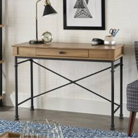 Better Homes and Gardens River Crest Console Desk (Rustic Oak Finish)