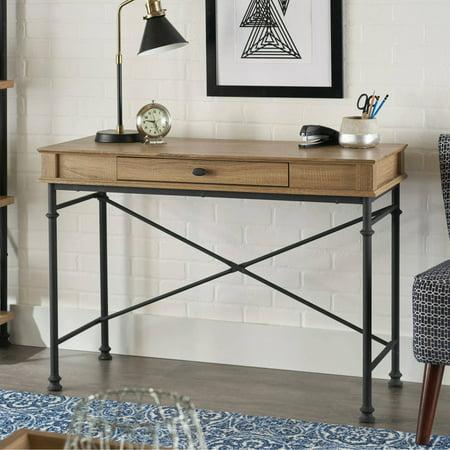 Oak Rustic Desk - Better Homes & Gardens River Crest Console Desk, Rustic Oak Finish