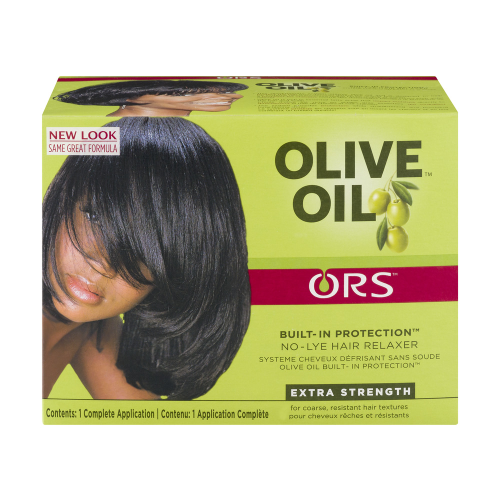 ORS Olive Oil Built-In Protection No-Lye Hair Relaxer Extra Strength, 1.0 KIT