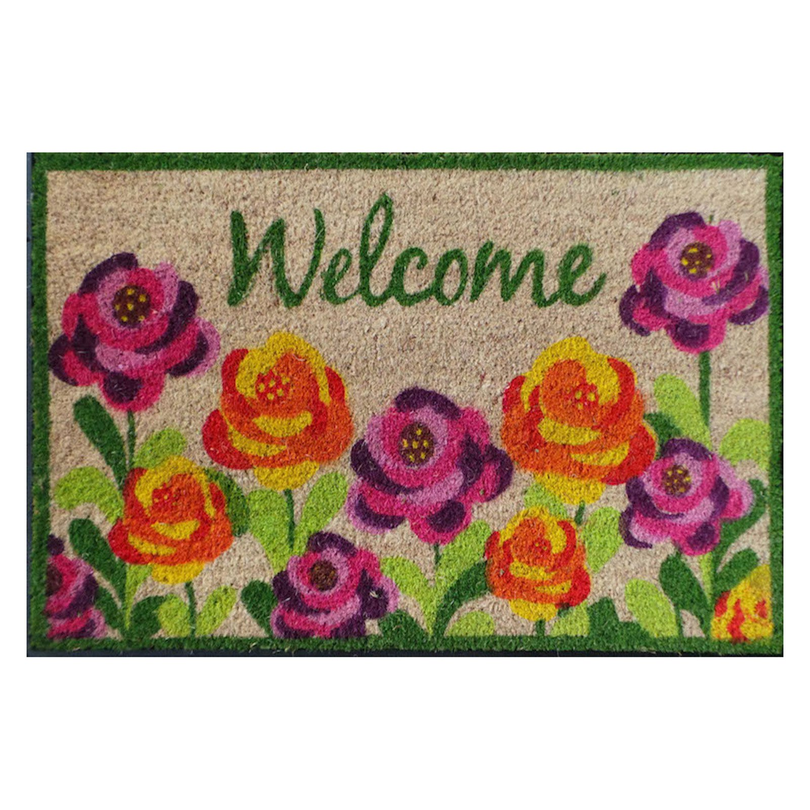 First Impression Roses Welcome Doormat