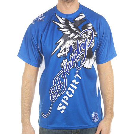 Ed Hardy Mens Eagle Mesh Crew Tee Top