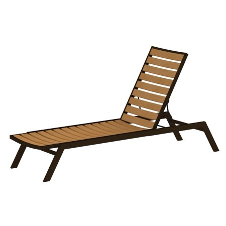 POLYWOOD AC1-16NT Euro Chaise in Textured Bronze / Plastique