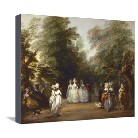 The Mall in St. James's Park Stretched Canvas Print Wall Art By Thomas (St Louis Outlet Mall Stores)