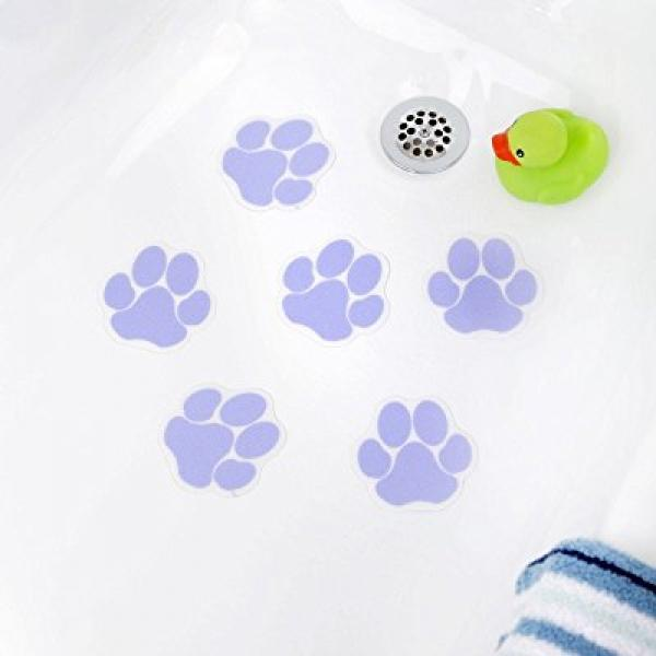Superbe NEW Purple Paw Print Bathtub Bath Tub Treads Non Slip Applique Sticker  Bathroom Mat
