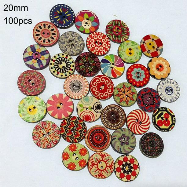 Decoration Handmade Dress Scrapbooking Wooden Buttons Flower Pattern Sewing