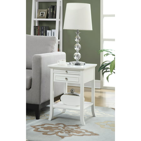 Convenience Concepts American Heritage Logan End Table with Drawer and Slide, Multiple Colors ()