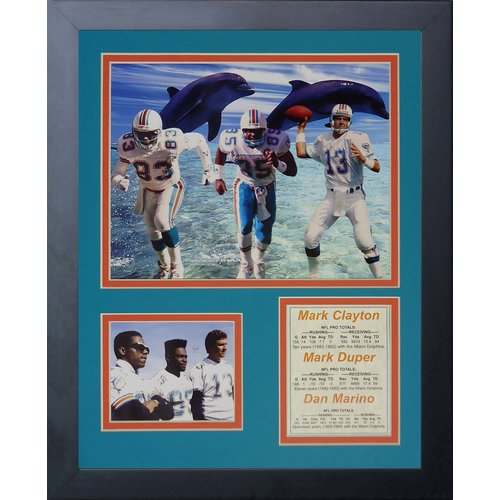 Legends Never Die Miami Dolphins 1980's Big 3 Framed Memorabili