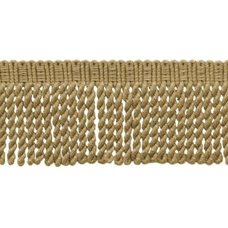 3 Inch Long|Camel Gold Knitted Bullion Fringe Trim|Style# BFSCR3|Color: E16C|Sold By the Yard (Crochet Knit Fringe)