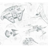 Disney Kids III Star Wars Ship Schematic Wallpaper