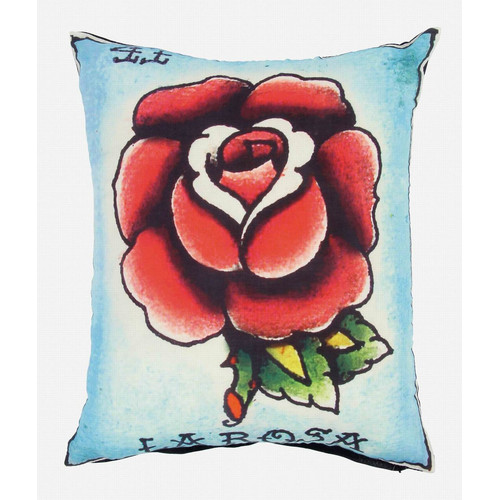 Karma Living Loteria La Rosa Cotton Throw Pillow (Set Of 2) (Set Of