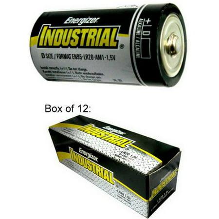 Energizer Batteries EN95 D Size Industrial Alkaline Battery - Made in USA