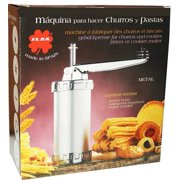 Churro Maker with Assorted Nozzles, Metal Churrera by ilsa (Imported from Spain)