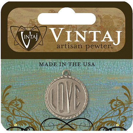 - Vintaj Metal Accent, Love Token, 19mm, 1pk