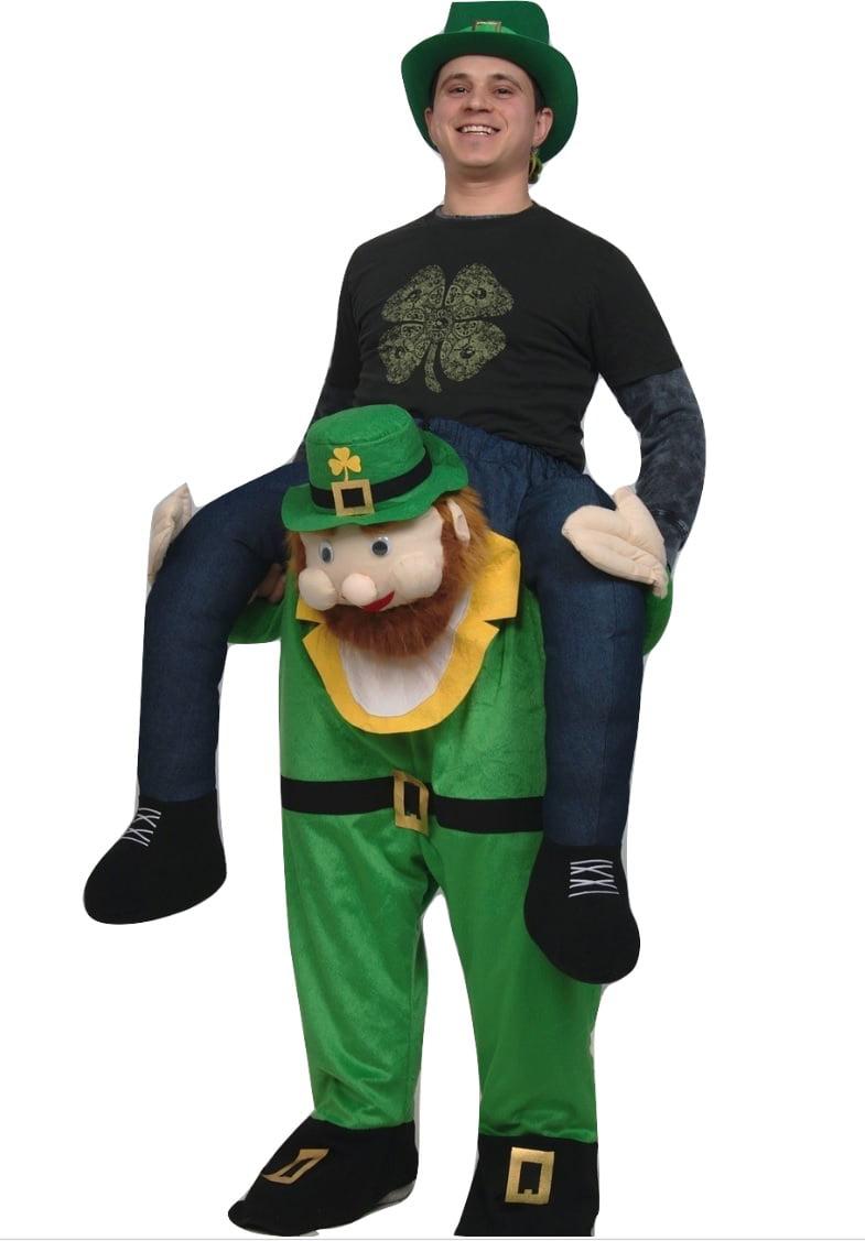 Carry Me Buddy Ride On A Shoulder Piggy Back Ride Leprechaun ...
