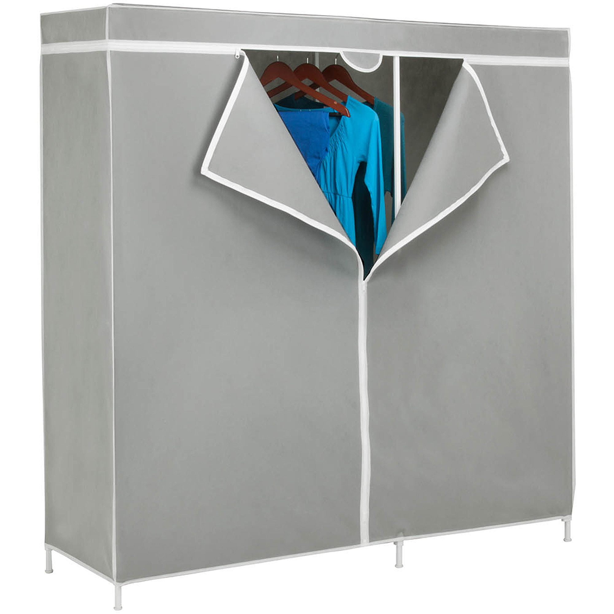 "Honey-Can-Do 60"" Steel Frame Wardrobe Closet System"