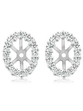 925 Sterling Silver Women's Earring Jackets for 6X4MM Oval Shape Studs