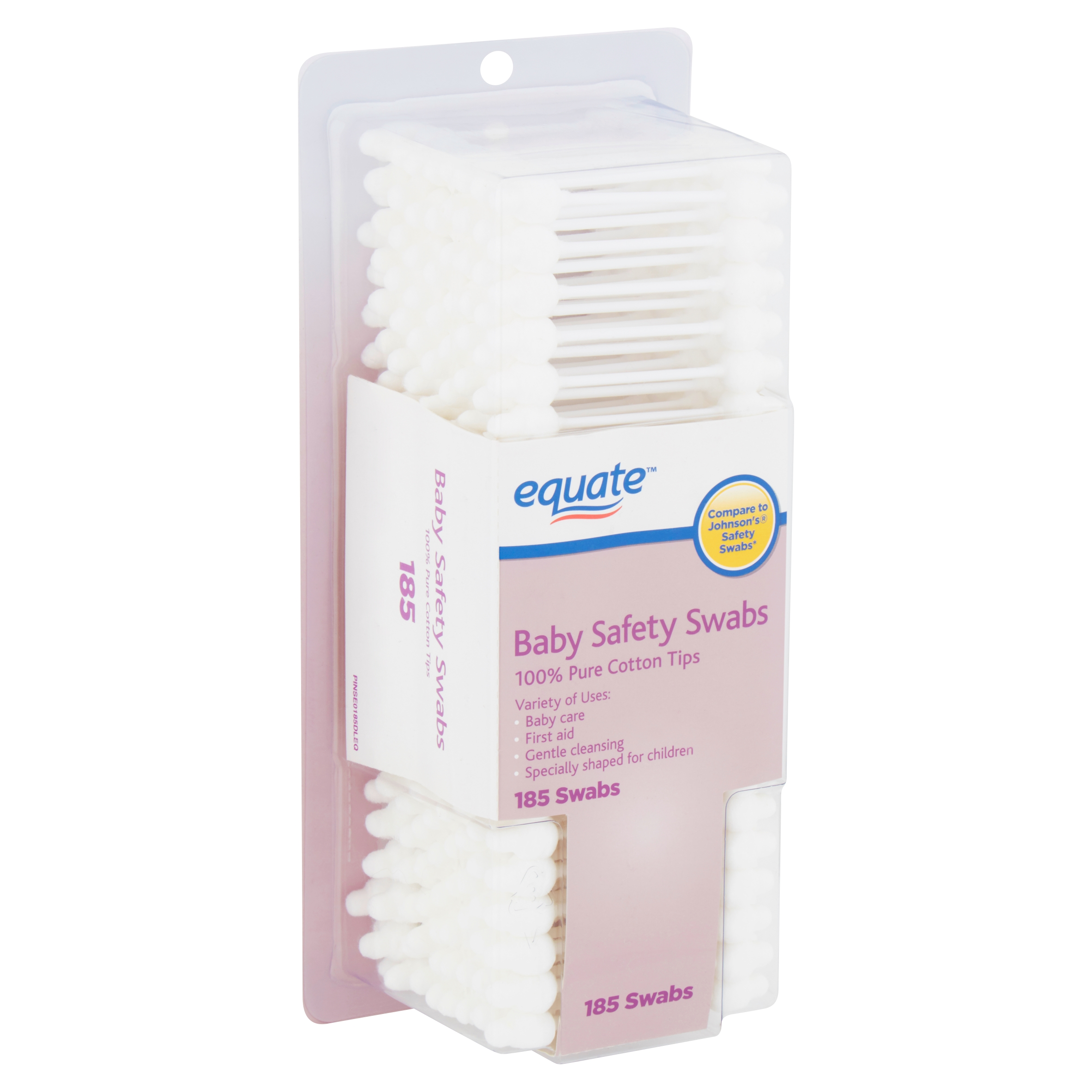 Equate Baby Safety Swabs, 185 count