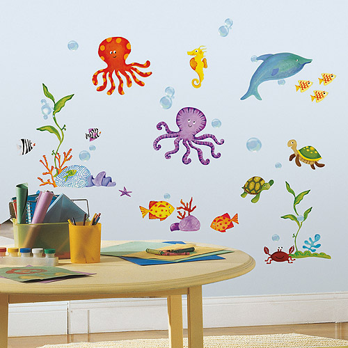 roommates adventures under the sea peel u0026 stick wall decals
