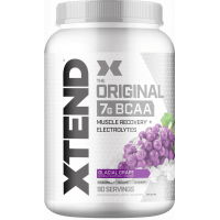 Xtend Original BCAA Powder, Branched Chain Amino Acids, Sugar Free Post Workout Muscle Recovery Drink with Amino Acids, 7g BCAAs for Men & Women, Glacial Grape, 90 Servings