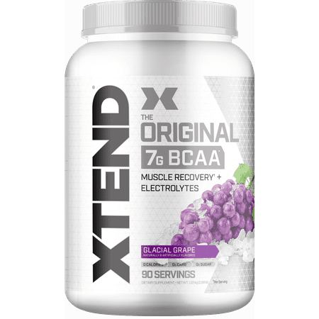 Scivation Xtend BCAA Powder, Branched Chain Amino Acids, 7g BCAAs, Glacial Grape, 90 Servings (Bcaa 5000 Grape)
