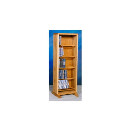 Dowel CD Storage Tower in Honey Oak Finish (Honey Oak)