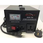 simran voltage transformer regulator stabilizer power converter black (svr-750)