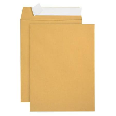 Blue Summit Supplies 6x9 Self Seal Envelopes, Golden Brown, 100/box - Wedding Envelope Seals