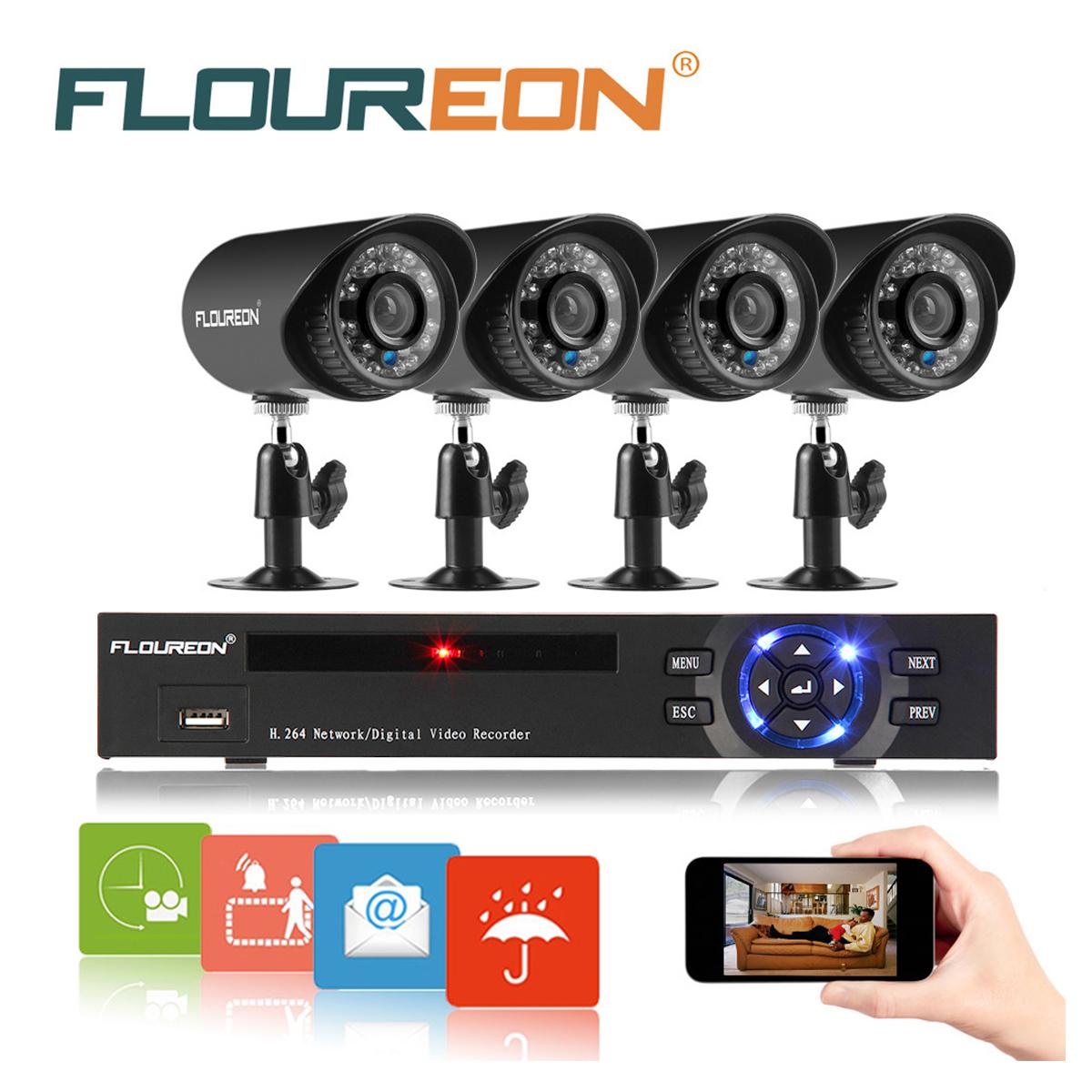 Floureon 8CH 960H Onvif Hybrid HDMI DVR 900TVL CCTV Camer...
