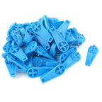 50 x Blue Plastic 4 Pins Wall Mounted Hanging Holder Nail Hanger