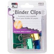 Assorted Metallics - Binder Clips 10/Pkg