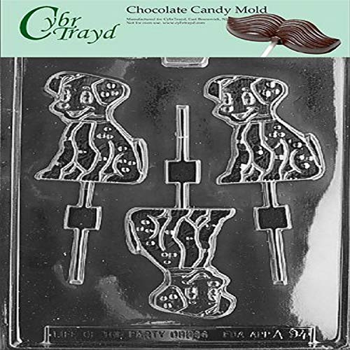 CybrtraydPlain Record Miscellaneous Chocolate Candy Mold with Packaging Bundle Includes 25 Cello Bags 25 Gold Twist Ties and Chocolate Molding Instructions