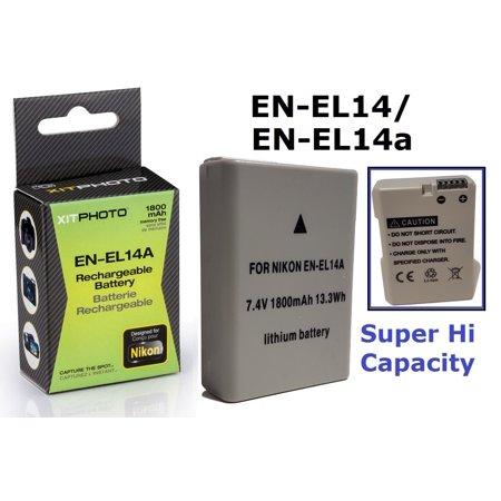 Hi Capacity EN-EL14a Battery For Nikon D3100 D3200 D3300 D3400 D5100 D5200 D5300 D5500 Df P7000 P7100 P7700