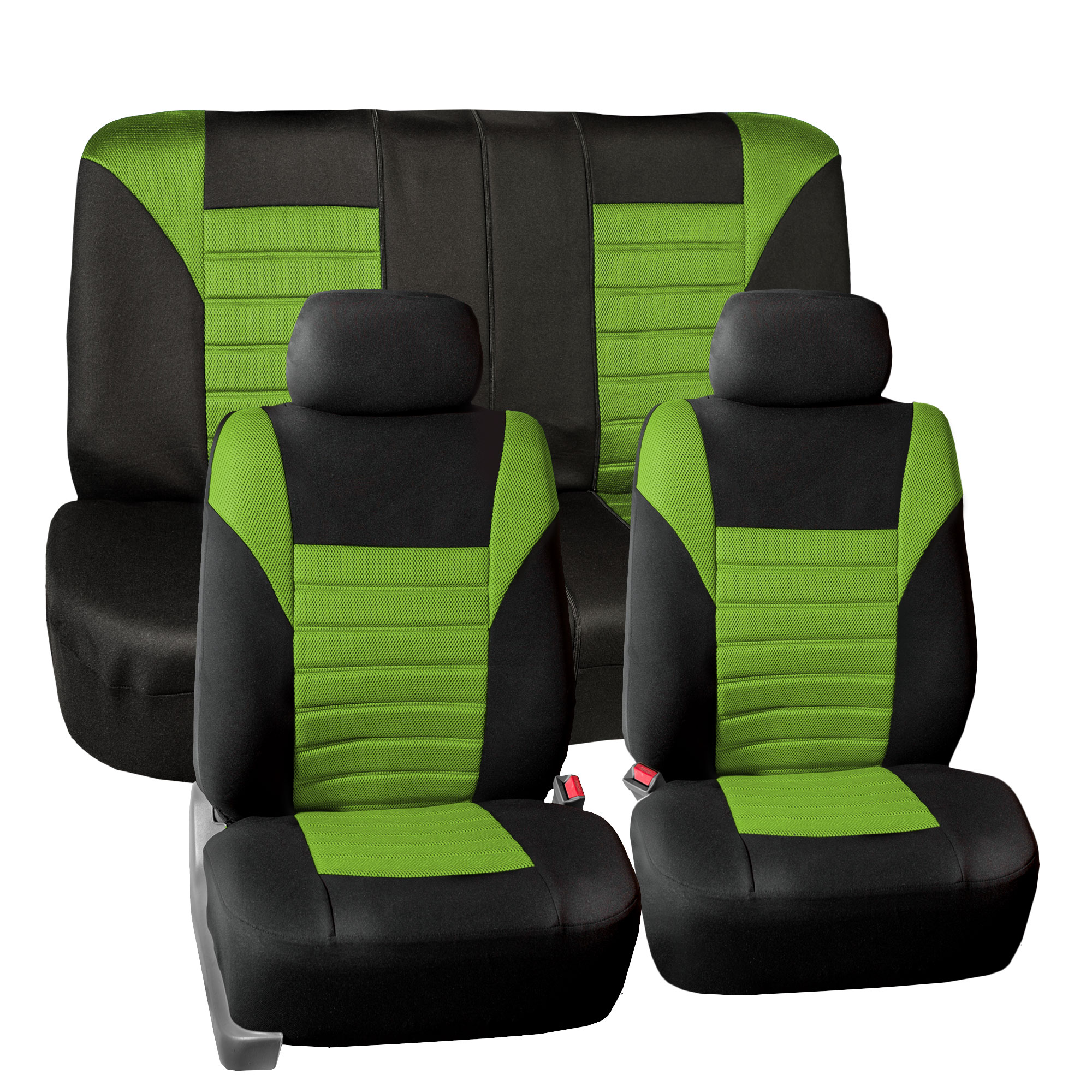 FH Group Premium Air Mesh Seat Covers for Auto Car SUV Van, Full Set, 11 Colors