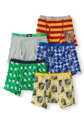 Harry Potter Boys Underwear, 5 Pack Boxer Briefs (Little Boys)