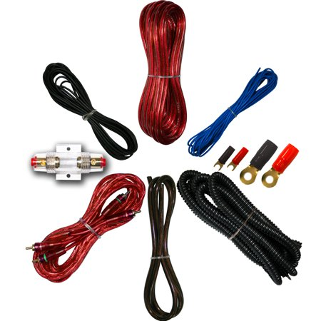 8 gauge amp kit for amplifier install wiring complete rca cable red 8 gauge amp kit for amplifier install wiring complete rca cable red 1500w greentooth Choice Image