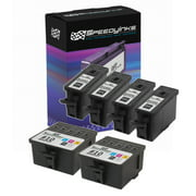 Speedy Compatible Cartridge Replacement for Kodak #10B & Kodak #10C (4 Black, 2 Color, 6-Pack)