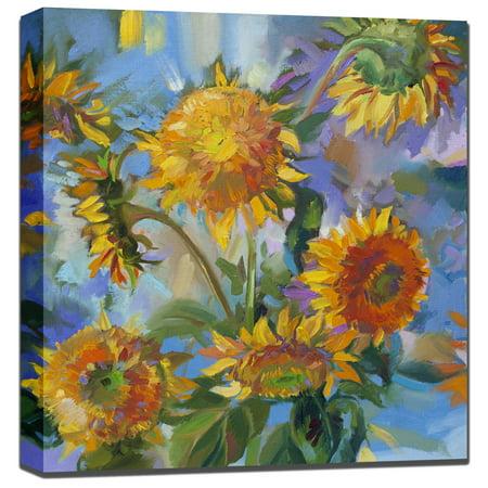 West Of The Wind Sunflower Modern Outdoor Wall Art