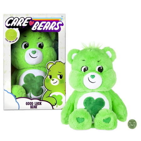 Care Bears Basic Medium Plush - Good Luck Bear