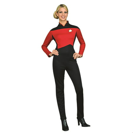 Star Trek Womens Deluxe Command Uniform Halloween Costume - Data Star Trek Costume